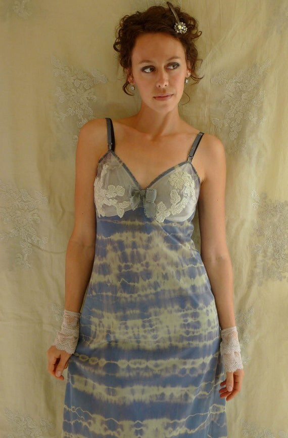 Falon Slip Dress... size Medium... Eco Friendly Recycled Tie Dye Bridesmaid