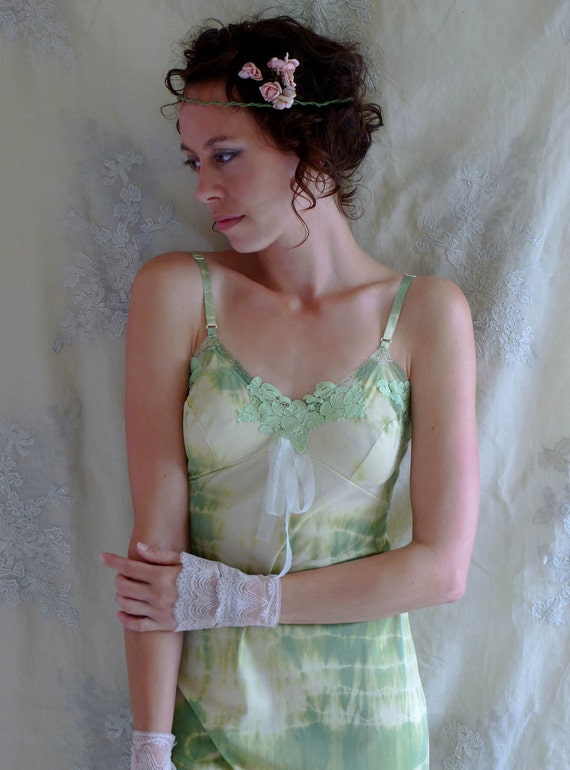 Fairy Ring Slip Dress... size Small or Medium... Eco Friendly Recycled Tie Dye