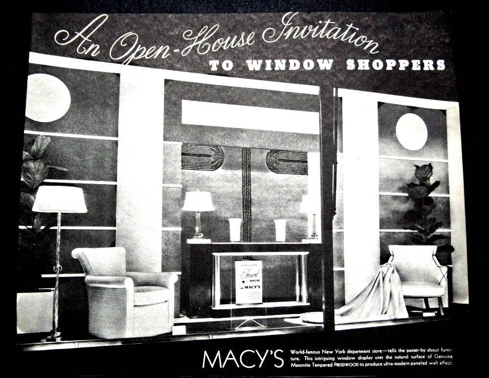 Vintage Original 1935 New York Macys Department Store Window