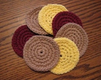 7 pc. cotton scrubbies set - You pick color(s)