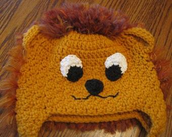Lion Earflap Beanie