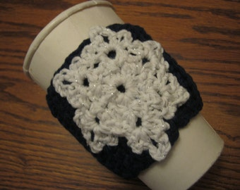 Custom Coffee Cozy with Snowflake