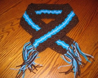 Brown and Blue Scarf - small size
