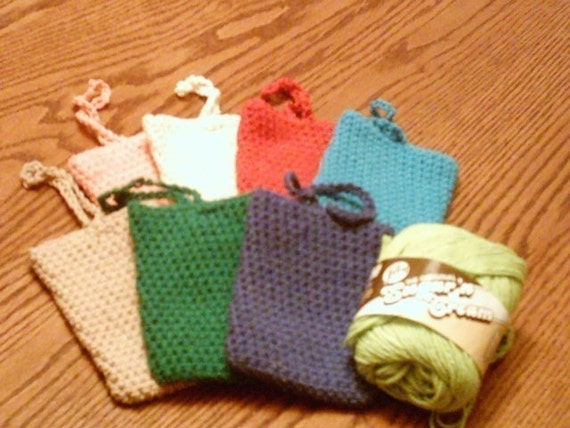 Cotton soap sock, soap saver