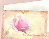 Rose Nostalgia Collection Single Blank Greeting Card--Our Lady of Guadalupe Rose Item No. RNC057-009