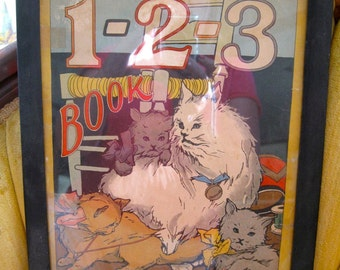 Antique Kitty Counting Framed Book cover