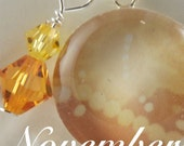 Sale -Sterling and Swarovski Birthstone Necklace - November - Featuring Original design by Nancy Tobin