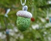 Christmas Mix Glittered Acorn Ornies - BirchHillCrafts
