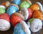 RESERVED for Holly Christmas Mix - Glittered Acorns
