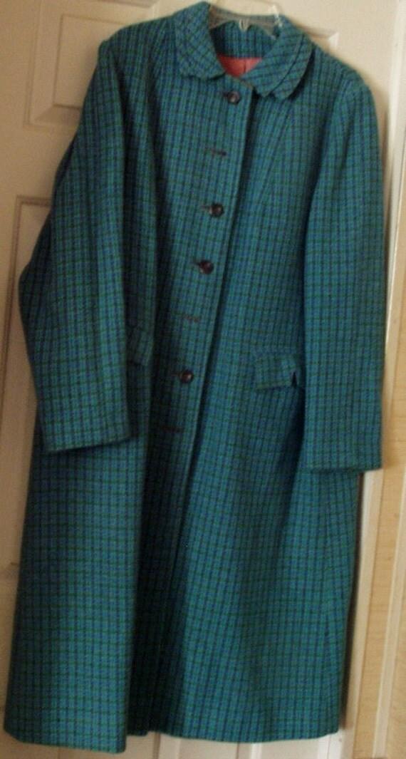 Vintage Harris Tweed 100 Percent Scottish Wool Ladies Coat