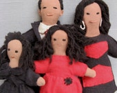 OUR NEW FIRST FAMILY miniature doll family