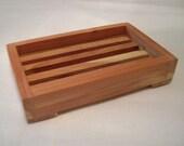 Slatted Spa Like Cedar Soap Tray