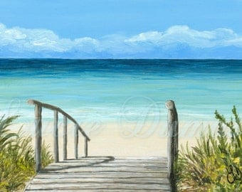 Art Print 4x6 from painting Sea View 147 by Lucie Dumas