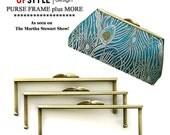 SIX Clutch Purse Frames - DIY Purse Making - As seen on The Martha Stewart Show - Del Mar Antique Gold