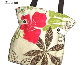 PDF Sewing Pattern -  Modern Cinch Tote - Simple Instructions - Get it TODAY