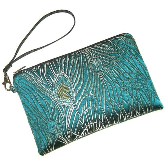 KINDLE KEEPER - Padded Case - Fits NEW Amazon Kindle 3 - Peacock Perfection - Detachable Wristlet