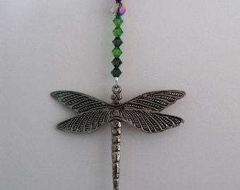 Dragonfly Swarovski Crystal  Suncatcher