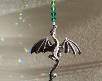 Celtic Pewter Dragon Suncatcher