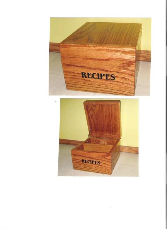 4x6 Receipe Box