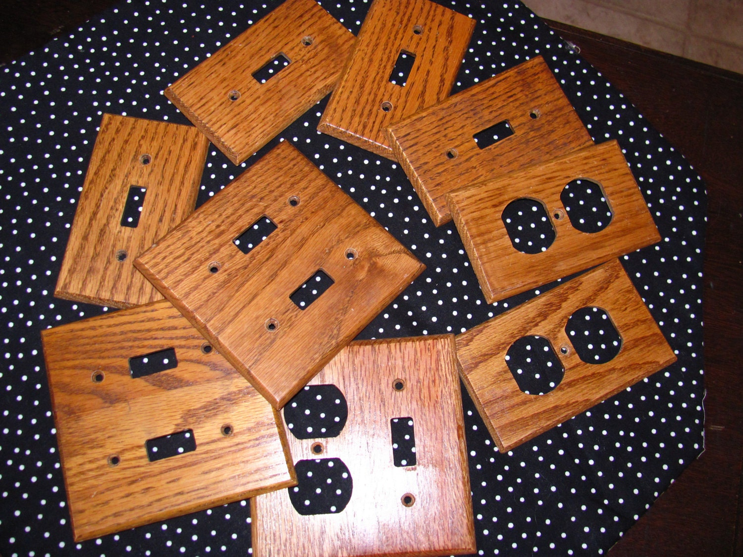 Lot Of 9 Wood Light Switch Plate Covers Outlet By Thisplusthat