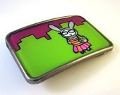 Fashion Bunny in the City Belt Buckle