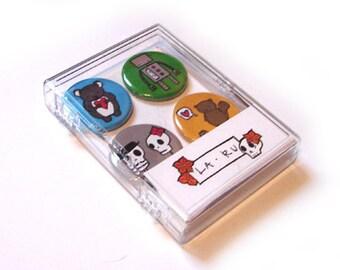 Assorted Magnet Pack of 4 La Ru Magnets