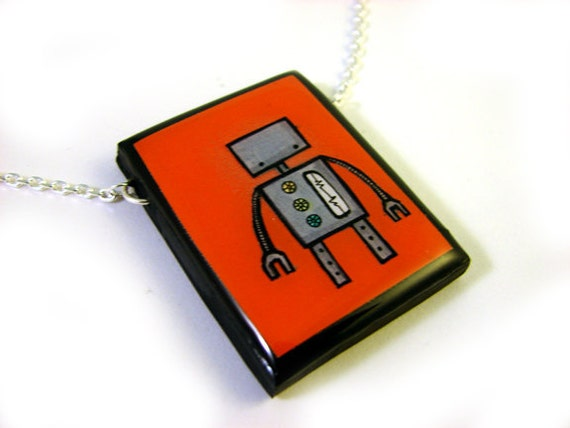 Red Robot Necklace