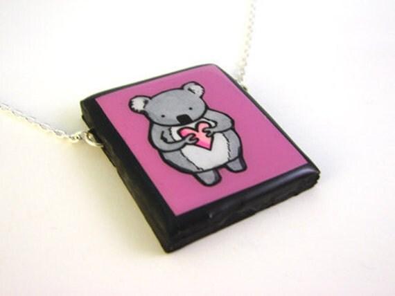 Pink Koala Necklace
