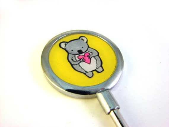 Yellow Koala Purse Hook