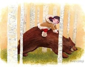 The Girl and the Bear - ACEO limited edition print