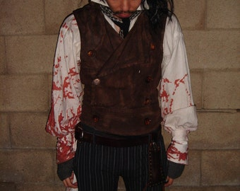 Sweeney Todd custom made Costume for Cosplay