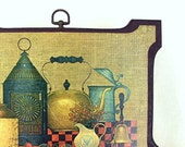 Vintage Art Old Fashioned Kitchen Still Life Wall Plaque