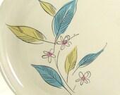 RESERVED FOR BRITTANY  Retro Dishes Salem Royal Windsor Biscayne Dishes in Aqua Khaki and Pink Design Vintage 1958