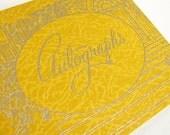 Vintage Spiral Bound Autograph Booklets for Graduates