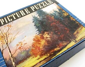 Vintage Jigsaw  Puzzle Autumn Splendor Guild Puzzles, Series HH - COMPLETE