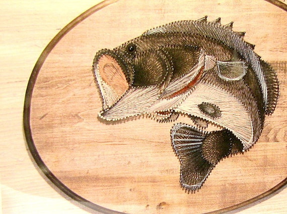 fish string art kit vintage 1970s nib