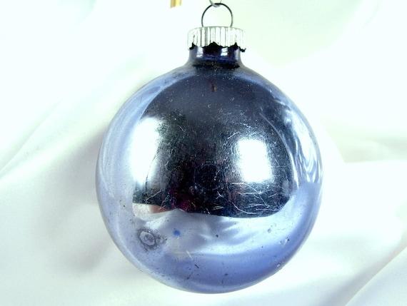 Vintage Shiny Brite Blue Christmas Ornament