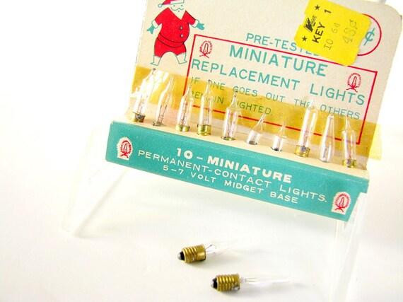 Vintage Screw in Replacement Christmas Lights Midget Base Series