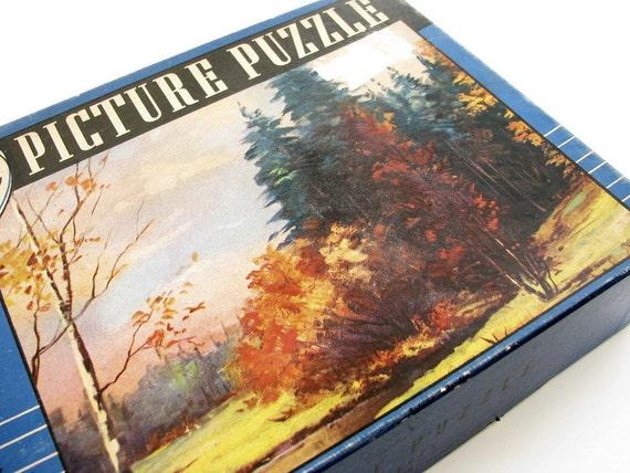 Complete Vintage Jigsaw  Puzzle Autumn Splendor Guild Puzzles, Series HH