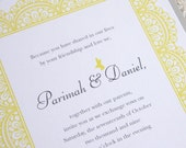 Chic Lace Wedding Invitation