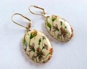 Vintage Wildflower No. 3 Cameo Earrings