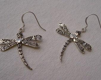 dragonfly earrings/ pendientes libélulas grandes