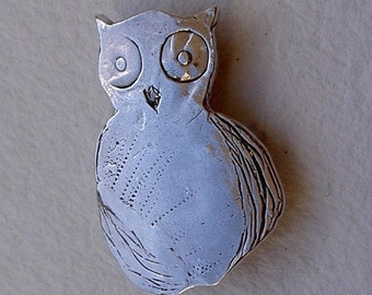 Broche buho mediano/Owl brooch