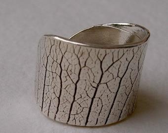 Anillo hoja/ leaf ring