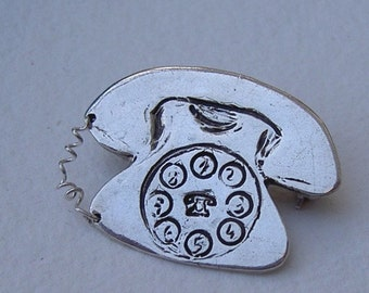 Little telephone brooch/ Broche telefono