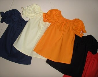 peasant tunic top in assorted colors(available in sizes 5 or 6)