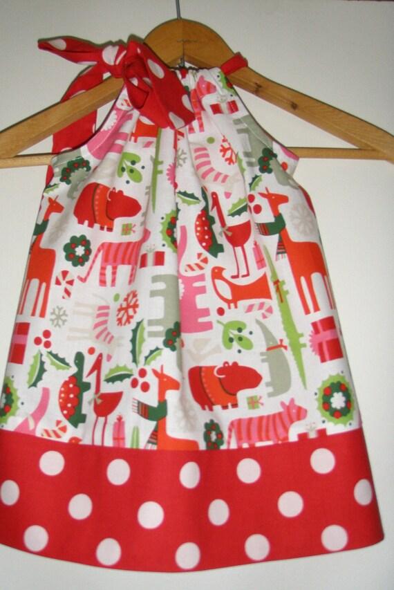 pillowcase dress Christmas Fabric  2D Yuletide Alexander Henry small to medium)