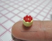 Dollhouse Miniature Quarter Scale Strawberry Cheesecake - MADE TO ORDER