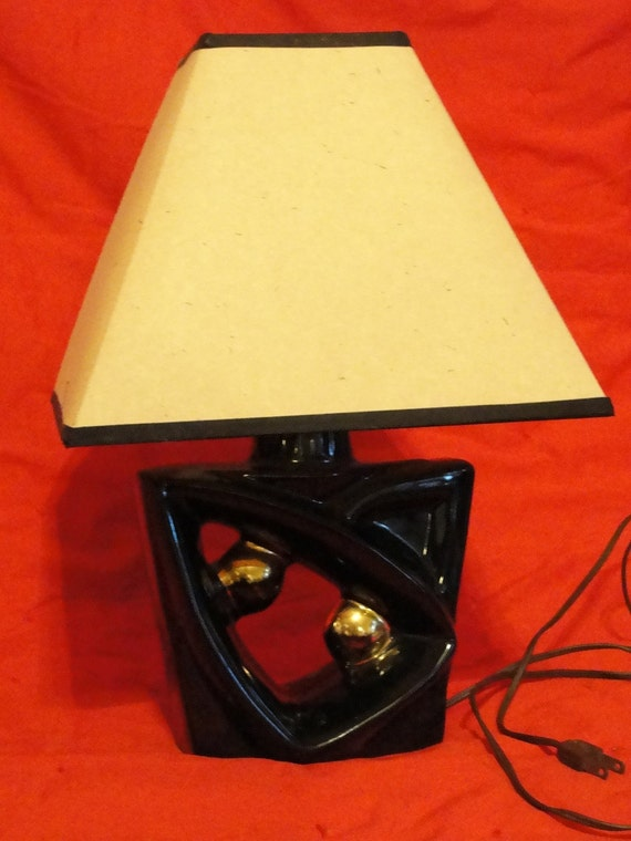 Cool vintage 50's table lamp small size in Retro atomic shape Modern design