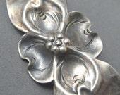 RESERVED Vintage Nye Sterling Pin Dogwood Flower Unique P1240